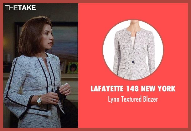 Lafayette 148 New York gray blazer from The Good Wife seen with Alicia Florrick (Julianna Margulies)