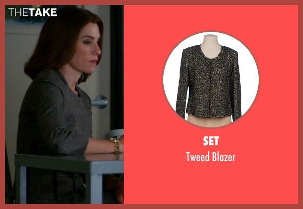 Set gray blazer from The Good Wife seen with Alicia Florrick (Julianna Margulies)