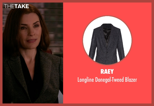 Raey gray blazer from The Good Wife seen with Alicia Florrick (Julianna Margulies)
