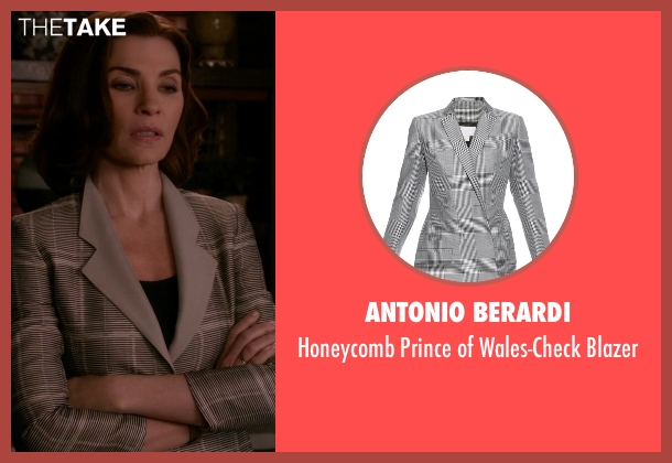 Antonio Berardi gray blazer from The Good Wife seen with Alicia Florrick (Julianna Margulies)