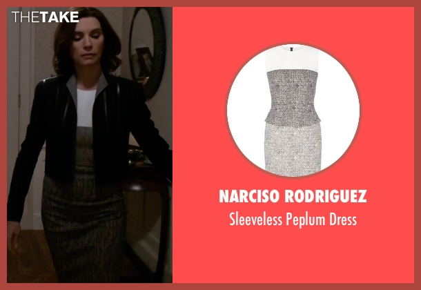 Narciso Rodriguez gray dress from The Good Wife seen with Alicia Florrick (Julianna Margulies)