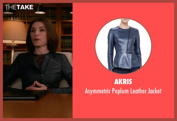 Akris	 gray jacket from The Good Wife seen with Alicia Florrick (Julianna Margulies)