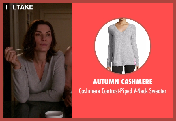 Autumn Cashmere gray sweater from The Good Wife seen with Alicia Florrick (Julianna Margulies)