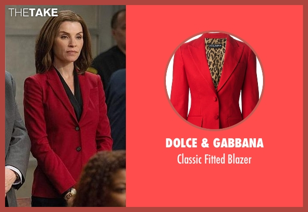 Dolce & Gabbana red blazer from The Good Wife seen with Alicia Florrick (Julianna Margulies)