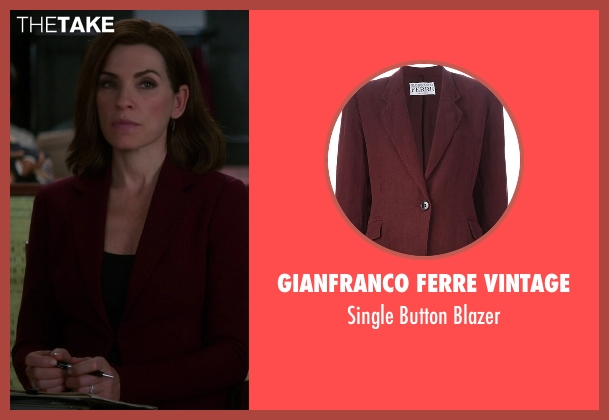 Gianfranco Ferre Vintage red blazer from The Good Wife seen with Alicia Florrick (Julianna Margulies)