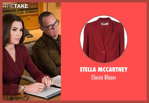 Stella Mccartney red blazer from The Good Wife seen with Alicia Florrick (Julianna Margulies)