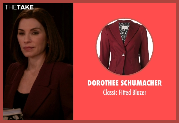 Dorothee Schumacher red blazer from The Good Wife seen with Alicia Florrick (Julianna Margulies)