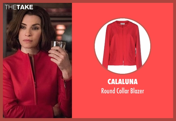 Calaluna red blazer from The Good Wife seen with Alicia Florrick (Julianna Margulies)
