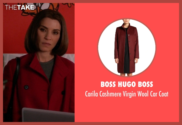 Boss Hugo Boss red coat from The Good Wife seen with Alicia Florrick (Julianna Margulies)