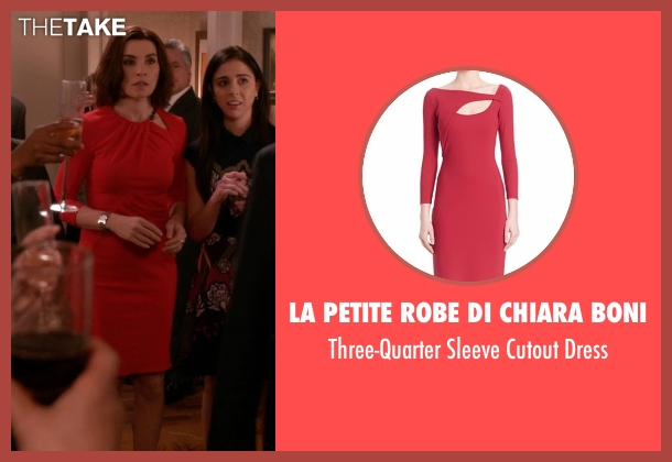 La Petite Robe di Chiara Boni red dress from The Good Wife seen with Alicia Florrick (Julianna Margulies)