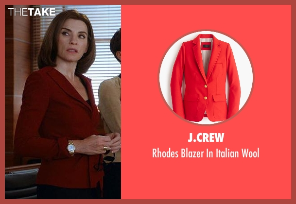 J.Crew red wool from The Good Wife seen with Alicia Florrick (Julianna Margulies)