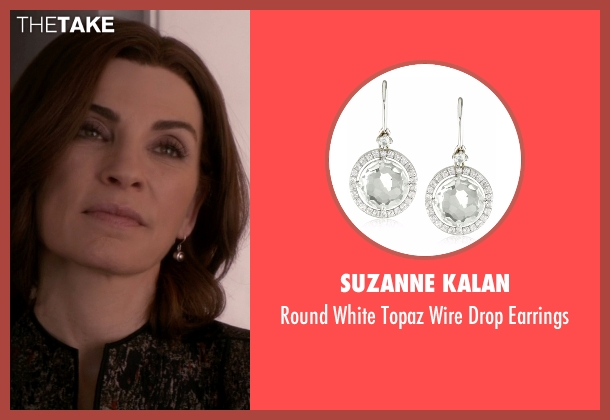 Suzanne Kalan  silver earrings from The Good Wife seen with Alicia Florrick (Julianna Margulies)