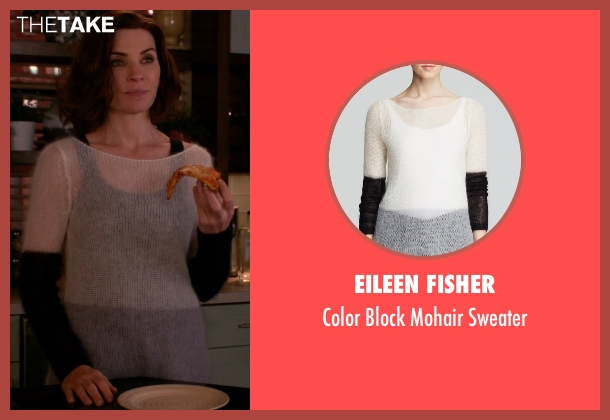 Eileen Fisher sweater from The Good Wife seen with Alicia Florrick (Julianna Margulies)