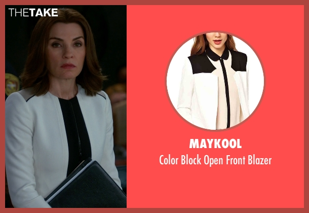 Maykool white blazer from The Good Wife seen with Alicia Florrick (Julianna Margulies)