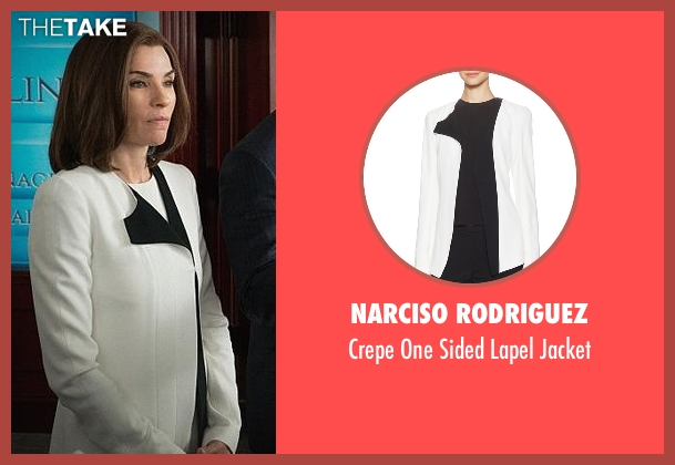 Narciso Rodriguez white jacket from The Good Wife seen with Alicia Florrick (Julianna Margulies)