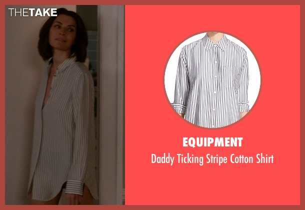 Equipment white shirt from The Good Wife seen with Alicia Florrick (Julianna Margulies)