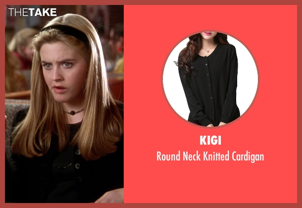 Kigi black cardigan from Clueless seen with Alicia Silverstone (Cher)