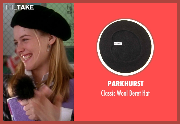 Parkhurst black hat from Clueless seen with Alicia Silverstone (Cher)