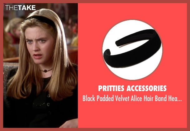 Pritties Accessories black headband from Clueless seen with Alicia Silverstone (Cher)