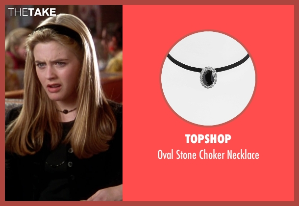 Topshop black necklace from Clueless seen with Alicia Silverstone (Cher)