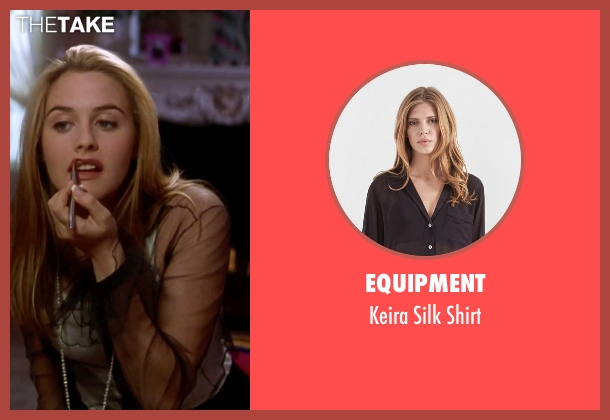 Equipment black shirt from Clueless seen with Alicia Silverstone (Cher)