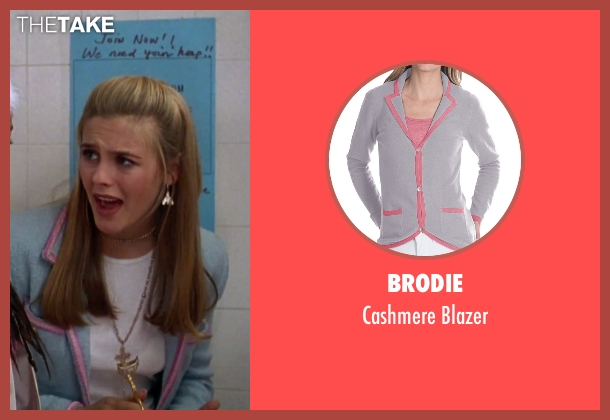 Brodie blue blazer from Clueless seen with Alicia Silverstone (Cher)