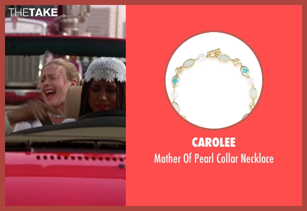 Carolee blue necklace from Clueless seen with Alicia Silverstone (Cher)