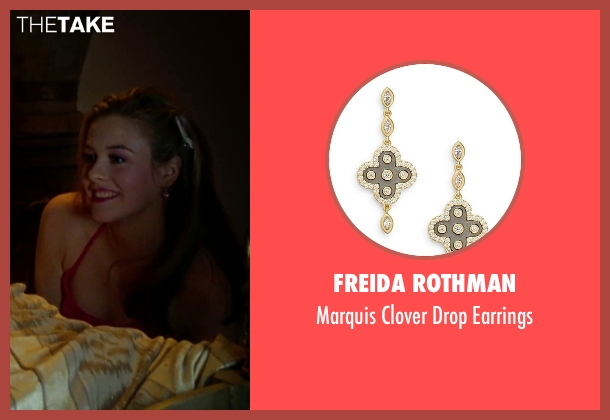 Freida Rothman gold earrings from Clueless seen with Alicia Silverstone (Cher)