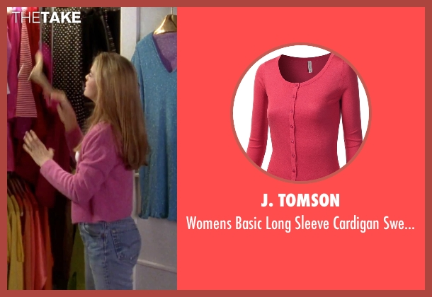 J. Tomson pink sweater from Clueless seen with Alicia Silverstone (Cher)