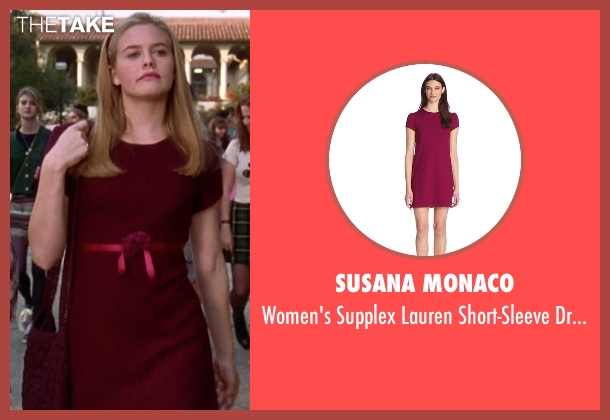 Susana Monaco red dress from Clueless seen with Alicia Silverstone (Cher)