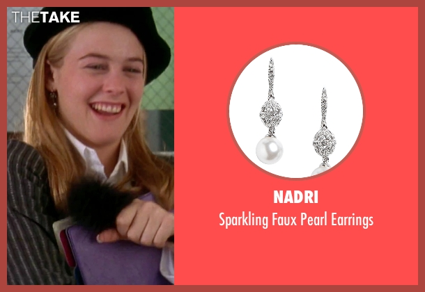 Nadri silver earrings from Clueless seen with Alicia Silverstone (Cher)