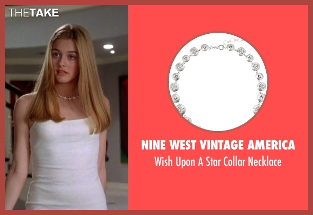Nine West Vintage America silver necklace from Clueless seen with Alicia Silverstone (Cher)