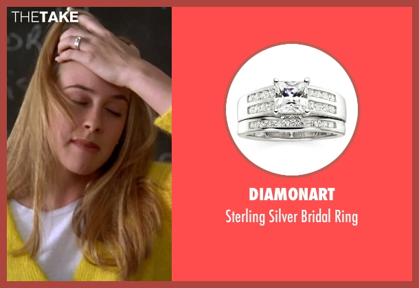 DiamonArt silver ring from Clueless seen with Alicia Silverstone (Cher)