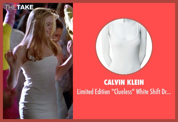 Calvin Klein white dress from Clueless seen with Alicia Silverstone (Cher)