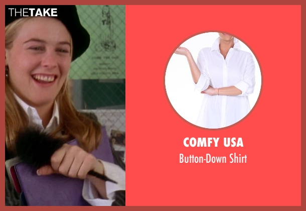 Comfy USA white shirt from Clueless seen with Alicia Silverstone (Cher)