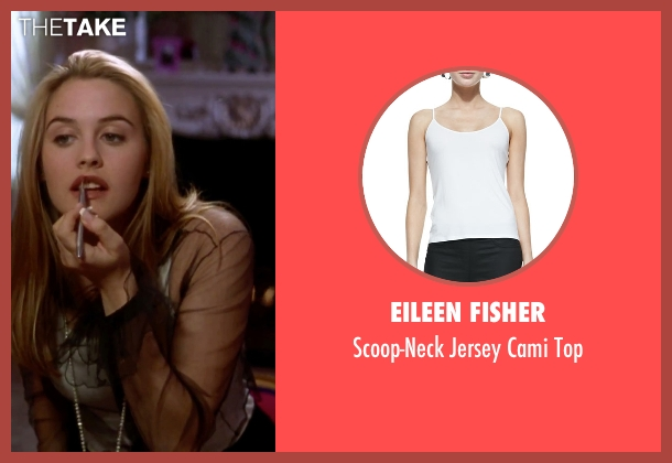 Eileen Fisher white top from Clueless seen with Alicia Silverstone (Cher)