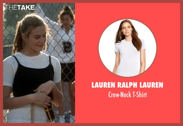 Lauren Ralph Lauren white t-shirt from Clueless seen with Alicia Silverstone (Cher)