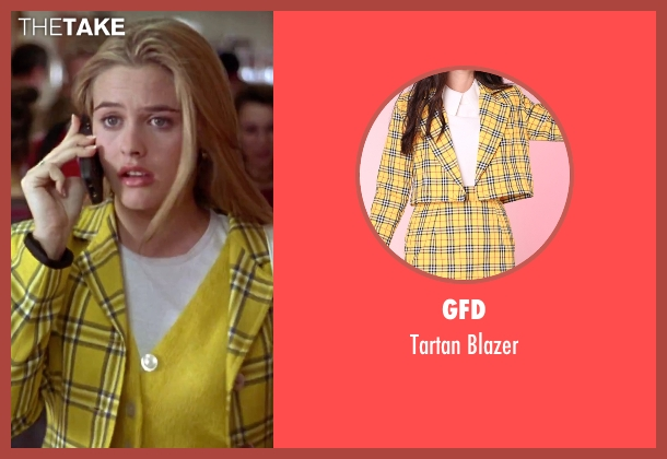 GFD yellow blazer from Clueless seen with Alicia Silverstone (Cher)