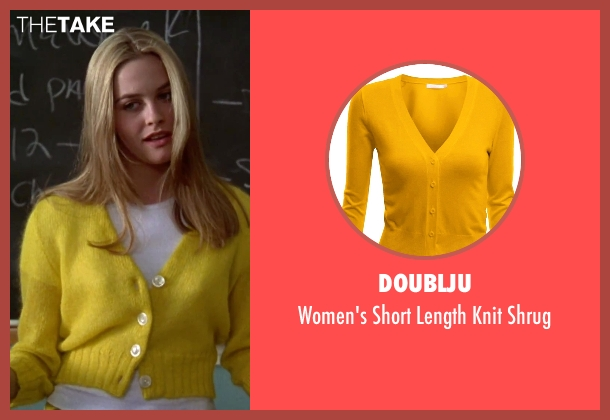 Doublju yellow shrug from Clueless seen with Alicia Silverstone (Cher)