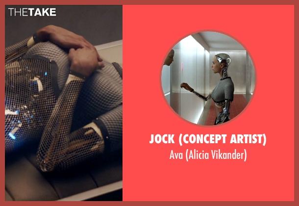 Jock (Concept Artist) ava from Ex Machina seen with Alicia Vikander (Ava)