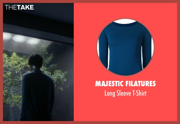 Majestic Filatures blue t-shirt from Ex Machina seen with Alicia Vikander (Ava)