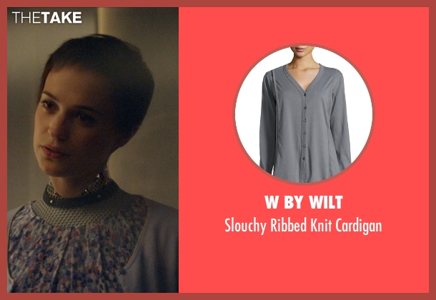 W by Wilt gray cardigan from Ex Machina seen with Alicia Vikander (Ava)