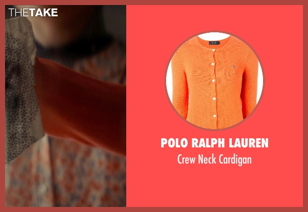 Polo Ralph Lauren orange cardigan from Ex Machina seen with Alicia Vikander (Ava)