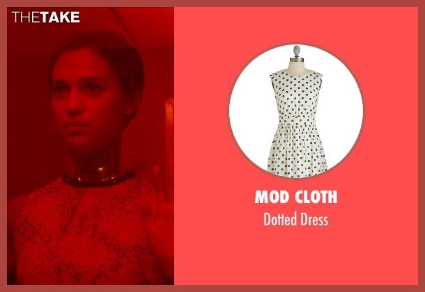Mod Cloth white dress from Ex Machina seen with Alicia Vikander (Ava)