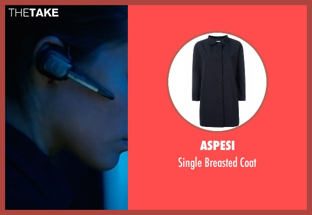 Aspesi blue coat from Jason Bourne seen with Alicia Vikander (Heather Lee)