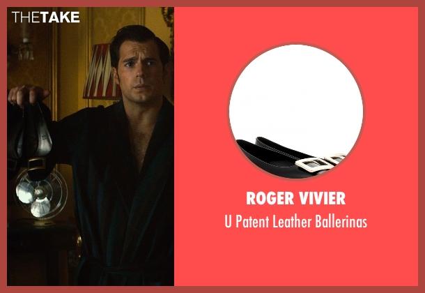 Roger Vivier black ballerinas from The Man from U.N.C.L.E. seen with Alicia Vikander (Gaby Teller)