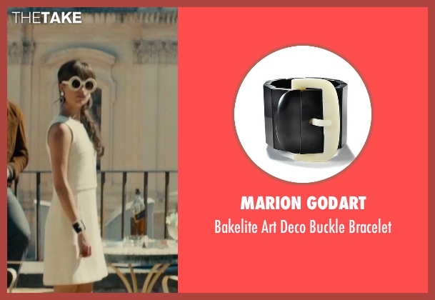 Marion Godart black bracelet from The Man from U.N.C.L.E. seen with Alicia Vikander (Gaby Teller)