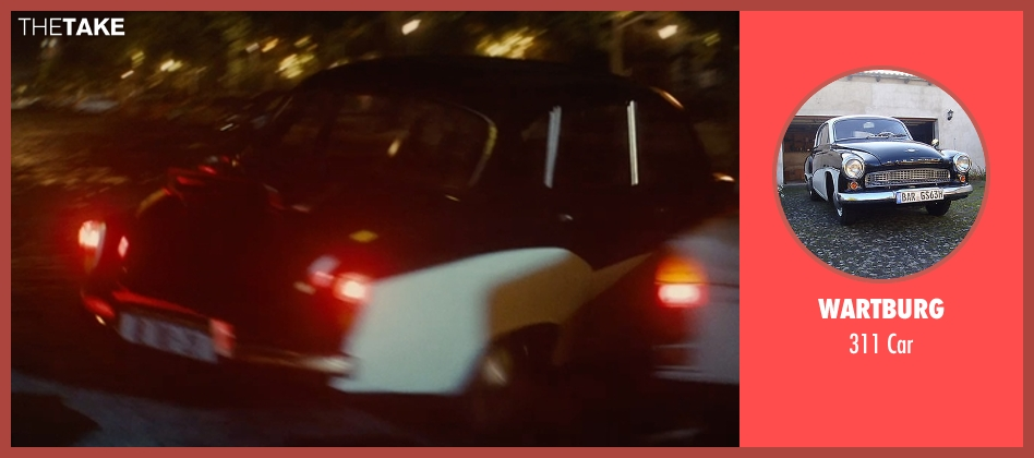 Wartburg car from The Man from U.N.C.L.E. seen with Alicia Vikander (Gaby Teller)