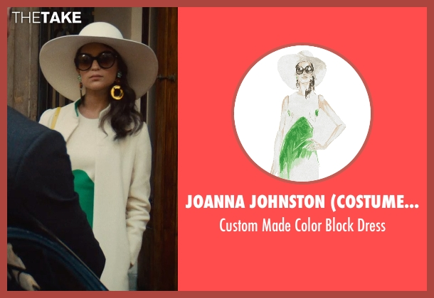 Joanna Johnston (Costume Designer) green dress from The Man from U.N.C.L.E. seen with Alicia Vikander (Gaby Teller)