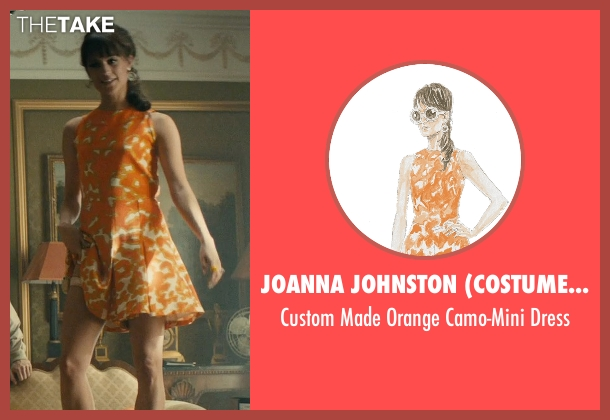 Joanna Johnston (Costume Designer) orange dress from The Man from U.N.C.L.E. seen with Alicia Vikander (Gaby Teller)
